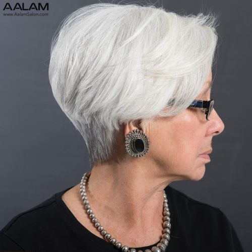 60 and Over Flattering Pixie for Straight Hair
