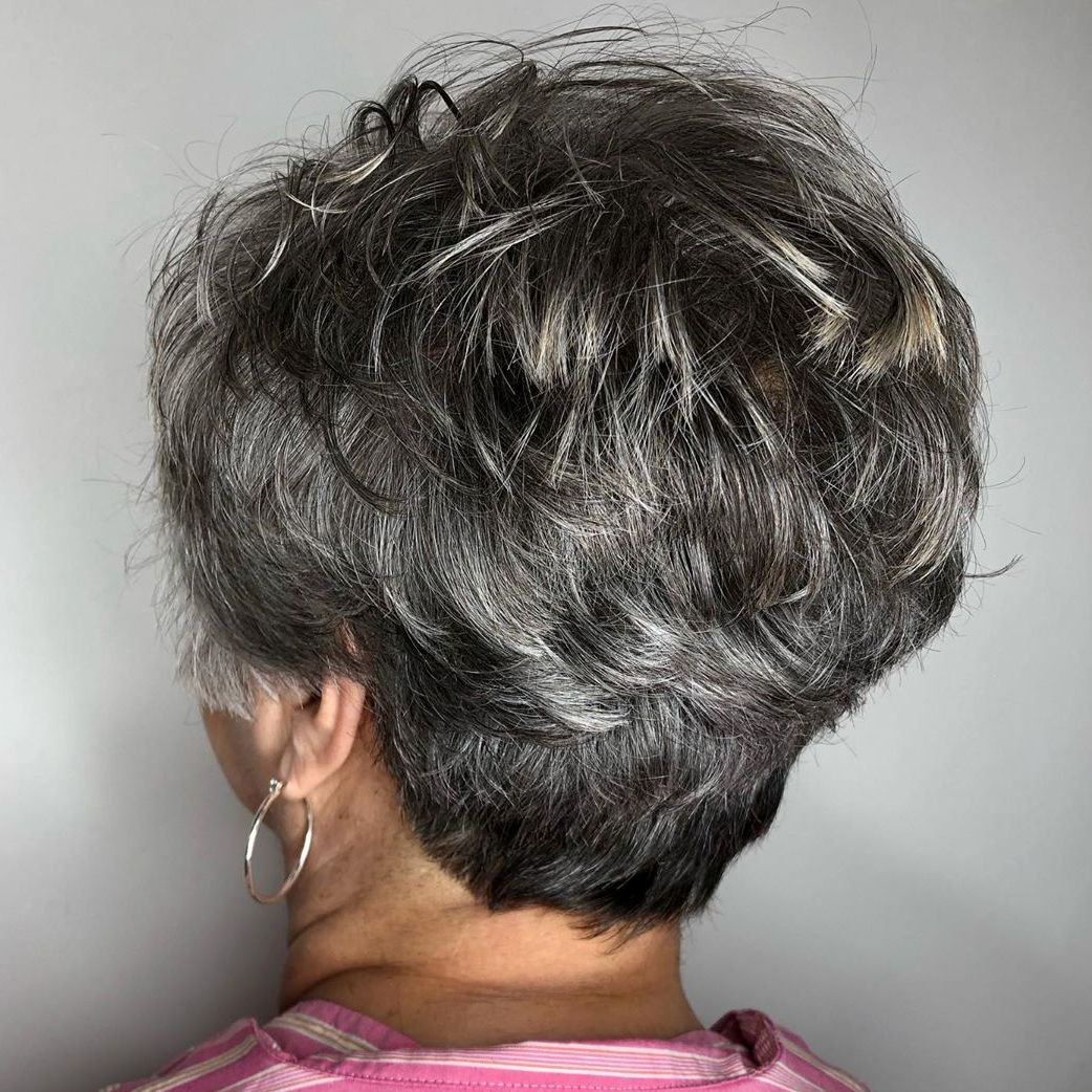Short Choppy Gray Pixie