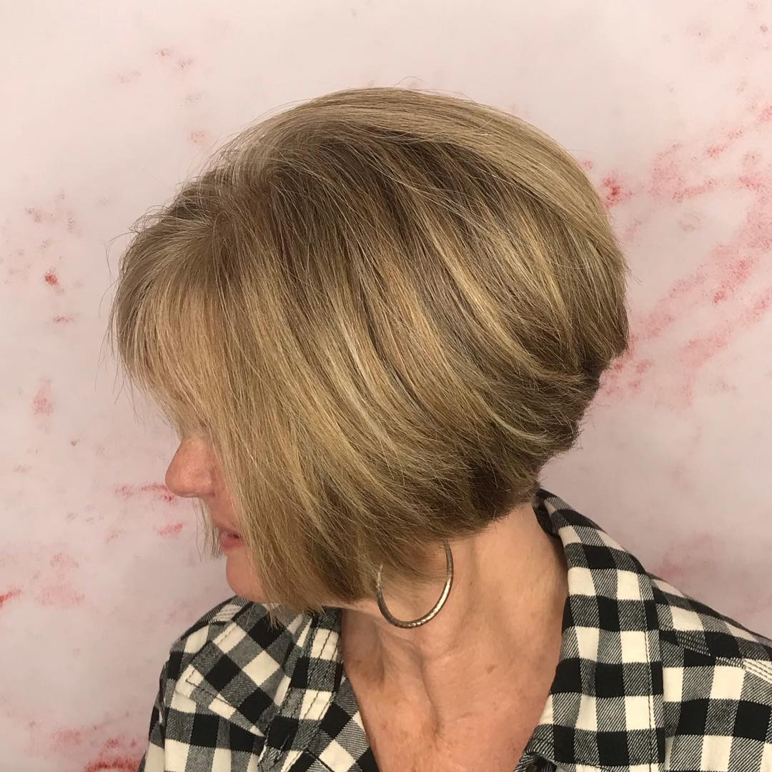 Stacked Bob for Fine or Thin Hair