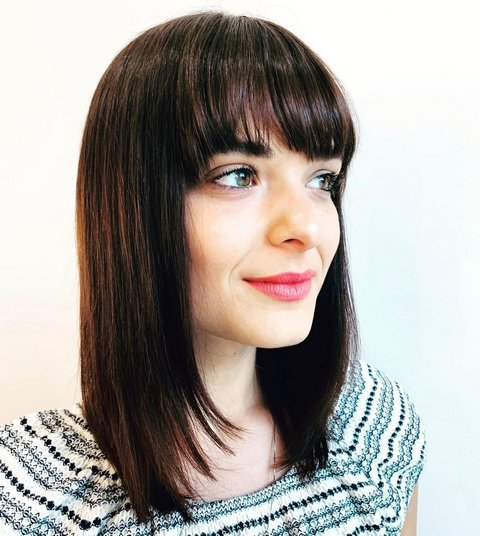 Sleek Straight Haircut with Bangs