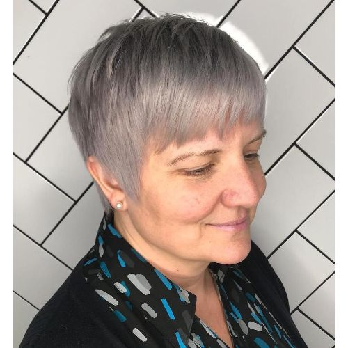 Over 40 Tapered Pixie for Thin Hair